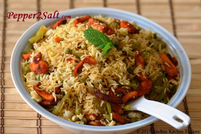 Fish fried rice sindhus kitchen recipes for Fish fried rice